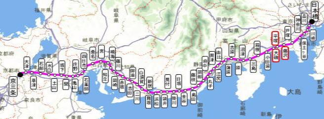 距離 東海道 53 次
